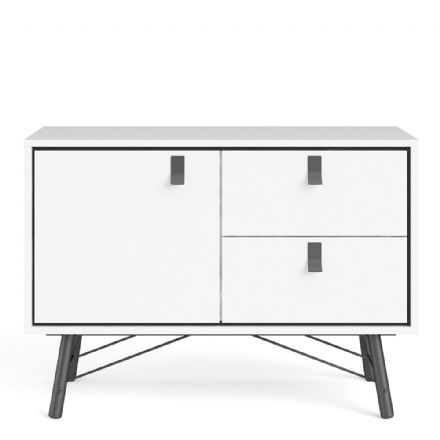 Sideboard with 1 door + 2 drawers in Matt White